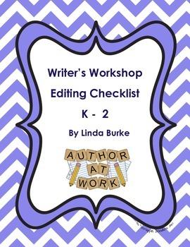 Writer's Workshop Editing Checklist