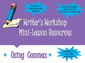 Writer's Workshop Editing/ Grammar Resources- Comma Use