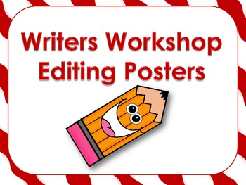 Writers Workshop Editing Poster Set