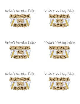 Writer's Workshop Folder Labels