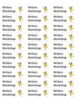 Writers Workshop Folder Labels