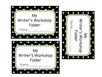Writer's Workshop Folder Labels