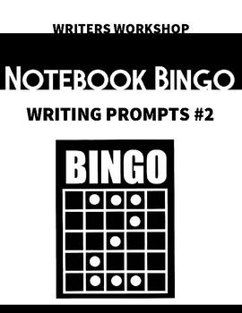 Writers Workshop Free-Write Prompt Bingo #2