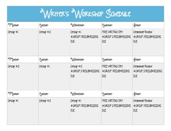 Writer's Workshop Guide
