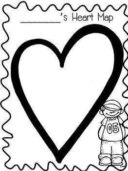 Writer's Workshop Heart Map Template
