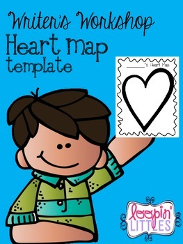 Writer's Workshop Heart Map Template