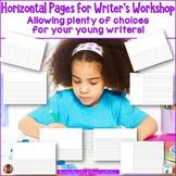 Writer's Workshop Horizontal Paper