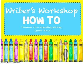 Writer's Workshop How To Unit
