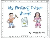 Writer's Workshop Individualized Spelling Reference Tri-fold
