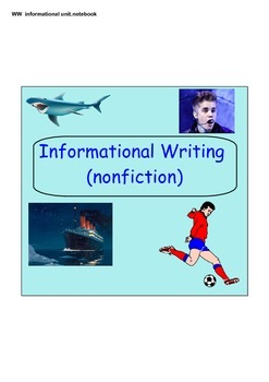 Writer's Workshop Informational and Nonfiction Unit