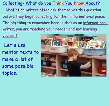 Common Core Aligned Informational and Nonfiction Writing Unit
