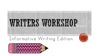 Writers Workshop Informative Lessons and Posters