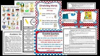 Writer's Workshop - Kindergarten: Getting Started Unit 1