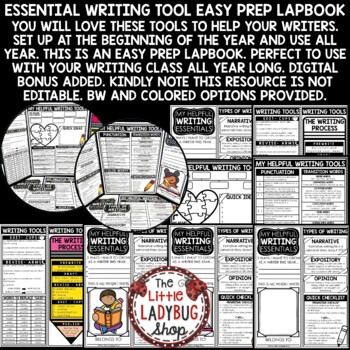 Writing Lapbook -Narrative Small Moments Writing- Brainstorming Generating Ideas