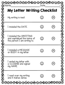 writers workshop letter writing templates more grade 1 2 tpt