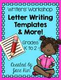 Writers' Workshop: Letter Writing Templates & More-Grade 1 & 2