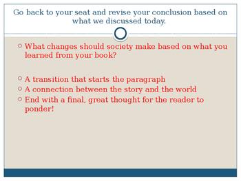 Writers Workshop: Literacy Essay Unit: Lesson 11/17