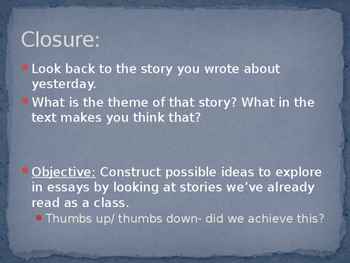 Writers Workshop: Literacy Essay Unit: Lesson 2/17