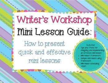 Writer's Workshop Mini Lesson Guide