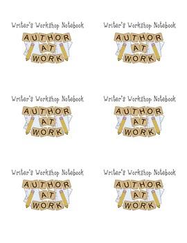 Writer's Workshop Notebook Labels