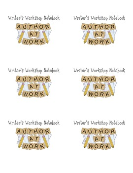Writer's Workshop Notebook Labels