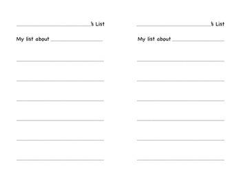 Writers Workshop Paper Choices (Kindergarten)
