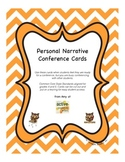 Writer's Workshop Personal Narrative Conference Cards