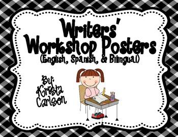 Writers' Workshop Posters (English, Spanish, Bilingual)