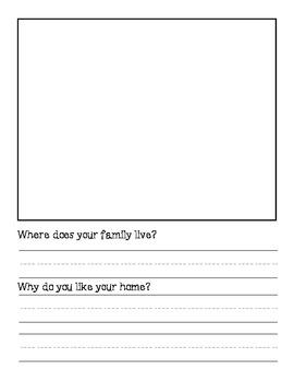 Writers' Workshop Printable: My Family Book