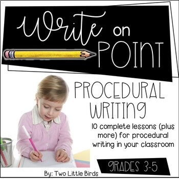 Writers Workshop: Procedural/How To Writing Unit Lessons, Posters