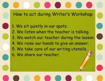 Writer's Workshop Procedures