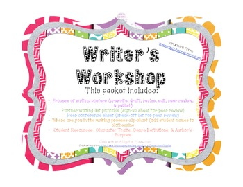 Writer's Workshop- Process Posters, Clip Chart, & Student