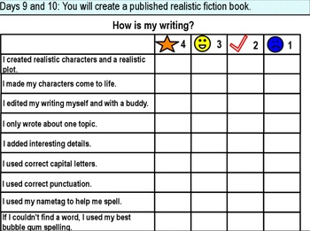 Writers' Workshop: Realistic Fiction Unit
