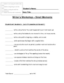 Writer's Workshop Rubric List Style - Small Moments