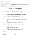 Writer's Workshop List Style Rubric for Narratives - 1st Grade
