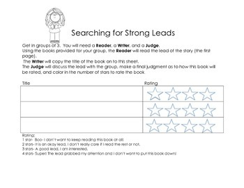 Writer's Workshop- Strong Leads