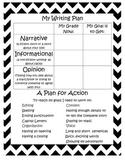 Writer's Workshop Student Goal Setting Sheet