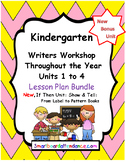 Writers Workshop Units 1–4 Yearly Lesson Plan Bundle Kindergarten