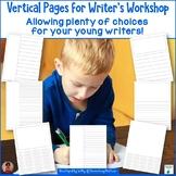 Writer's Workshop Vertical Paper