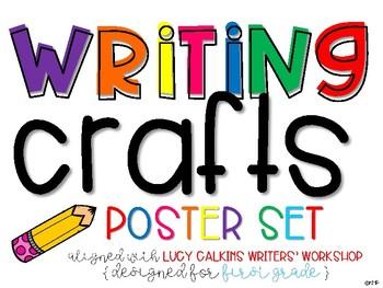 Writers' Workshop WRITING CRAFTS Poster Set
