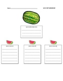 Watermelon and seed idea writing graphic organizer