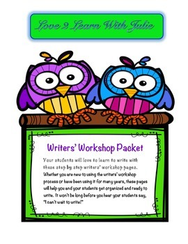 Writers' Workshop Work Pages and Mini Lessons