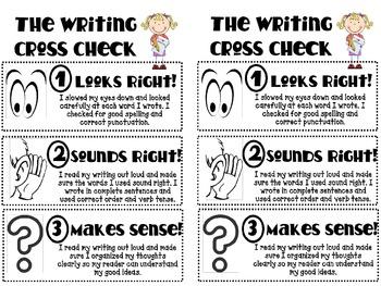Writer's Workshop: Writing Cross Check