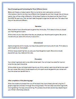 Writer's Workshop: Writing to a Prompt or Topic
