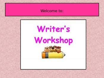 Writer's Workshop for Common Core 3.W.4-5.W.4-No Prep