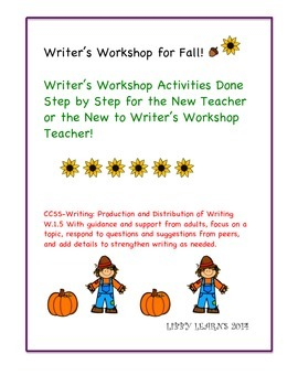 Writer's Workshop for Fall