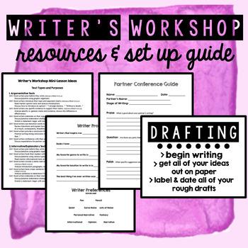 Writers Workshop - Resources & Mini Lesson Ideas