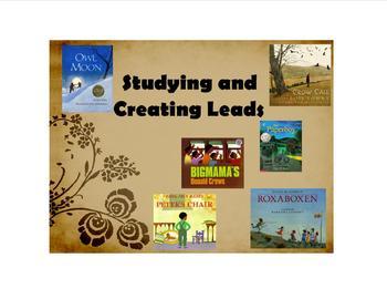 Writer's Workshop mentor text Leads: Smart Board