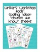 Writers Workshop and Work on Writing Tools for Primary Writers at all Levels