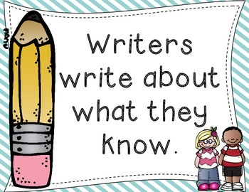 Writers Write About What They Know